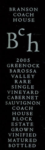 Branson Coach House Block Cabernet Sauvignon 2005 750ml, Barossa Valley