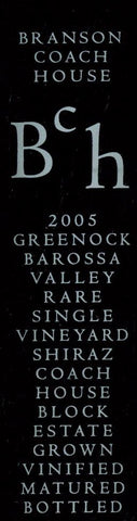 Branson Coach House Block Shiraz 2005 750ml, Barossa Valley