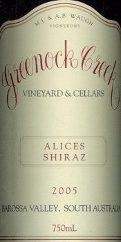 Greenock Creek Alice's Shiraz 2005 750ml, Barossa Valley