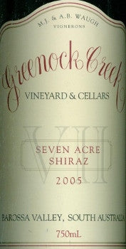 Greenock Creek Seven Acre Shiraz 2005 750ml, Barossa Valley