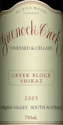 Greenock Creek Creek Block Shiraz 2005 750ml, Barossa Valley