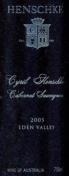 Henschke Cyril Cabernet Sauvignon 2005 750ml, Eden Valley