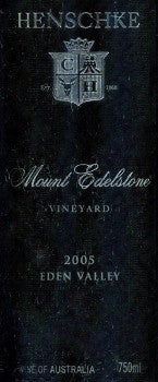 Henschke Mount Edelstone Shiraz 2005 750ml, Eden Valley
