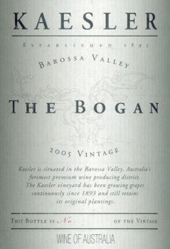 Kaesler The Bogan Shiraz 2005 3L, Barossa Valley