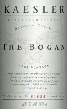 Kaesler The Bogan Shiraz 2005 750ml, Barossa Valley