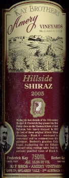 Kay Brothers Hillside Shiraz 2005 750ml, McLaren Vale