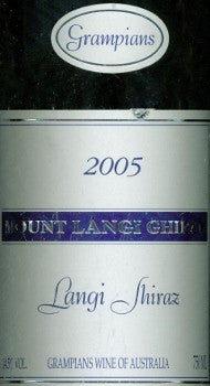 Mount Langi Ghiran Shiraz 2005 750ml, Grampians