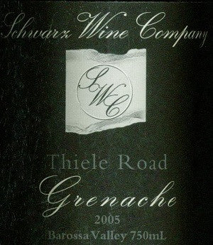 Schwarz Thiele Road Grenache 2005 750ml, Barossa Valley