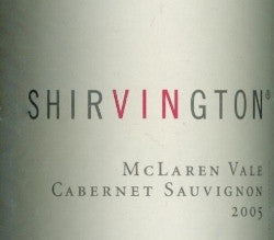 Shirvington Cabernet Sauvignon 2005 750ml, McLaren Vale