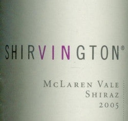 Shirvington Shiraz 2005 750ml, McLaren Vale