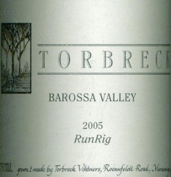 Torbreck RunRig Shiraz 2005 750ml, Barossa Valley