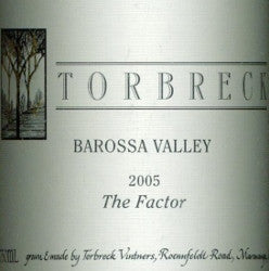 Torbreck The Factor Shiraz 2005 3L, Barossa Valley
