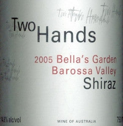 Two Hands Bella's Garden Shiraz 2005 750ml, Barossa Valley