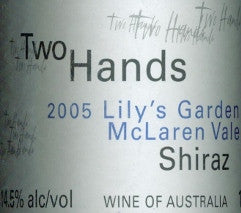 Two Hands Lily's Garden Shiraz 2005 6L, McLaren Vale