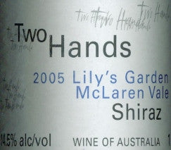 Two Hands Lily's Garden Shiraz 2005 3L, McLaren Vale