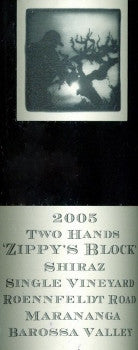Two Hands Zippy's Block Shiraz 2005 750ml, Barossa Valley