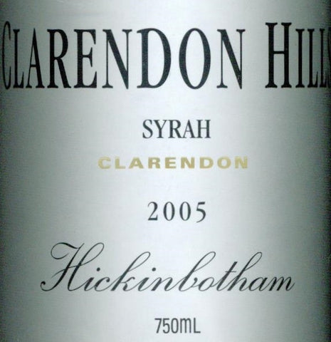 Clarendon Hills Hickinbotham Syrah 2005 750ml, McLaren Vale