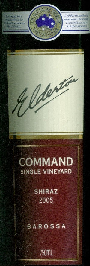 Elderton Command Shiraz 2005 750ml, Barossa Valley