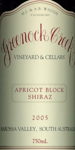 Greenock Creek Apricot Block Shiraz 2005 750ml, Barossa Valley