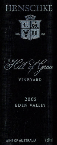 Henschke Hill of Grace Shiraz 2005 750ml, Eden Valley