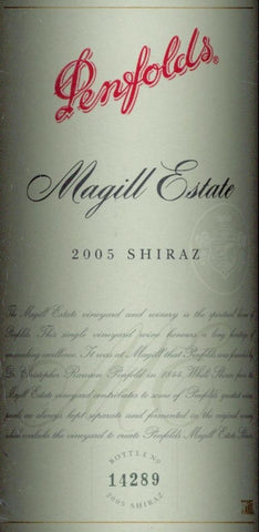 Penfolds Magill Estate Shiraz 2005 750ml, South Australia