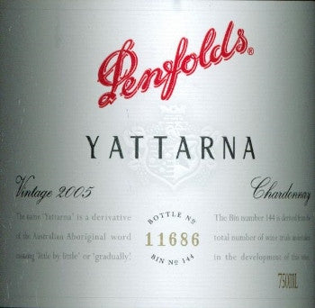 Penfolds Yattarna Chardonnay 2005 750ml, South Australia