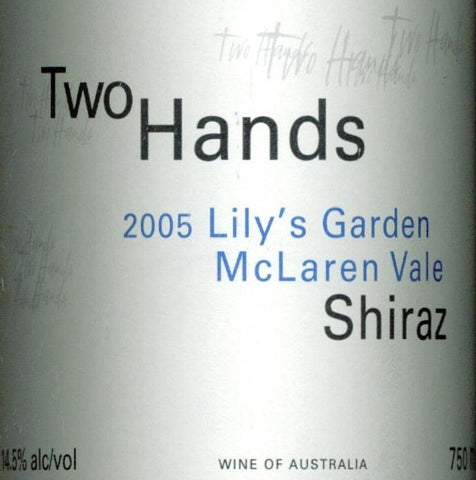 Two Hands Lily's Garden Shiraz 2005 750ml, McLaren Vale
