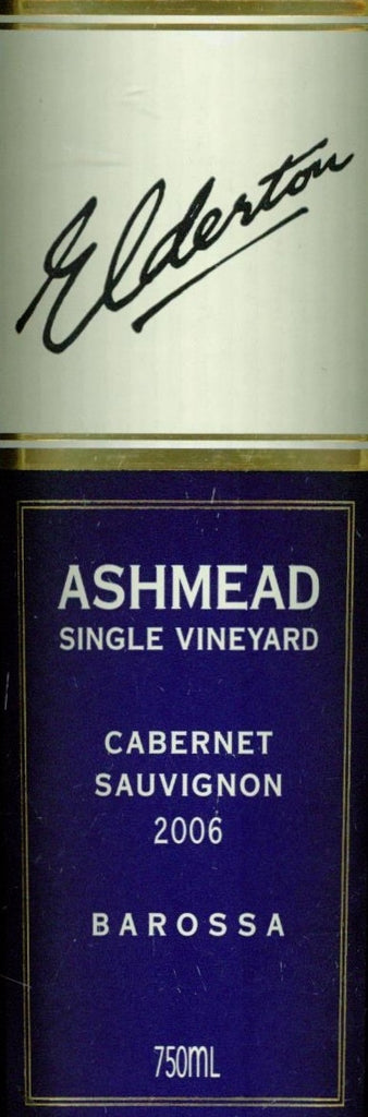 Elderton Ashmead Cabernet Sauvignon 2006 750ml, Barossa Valley