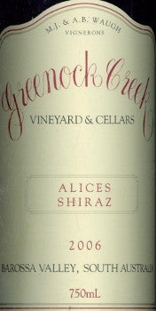 Greenock Creek Alice's Shiraz 2006 750ml, Barossa Valley