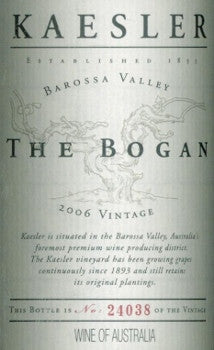 Kaesler The Bogan Shiraz 2006 750ml, Barossa Valley