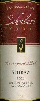 Schubert Goose Yard Block Shiraz 2006 3L, Barossa Valley