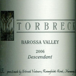 Torbreck Descendant Shiraz Viognier 2006 1..5L, Barossa Valley