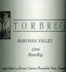 Torbreck RunRig Shiraz 2006 750ml, Barossa Valley