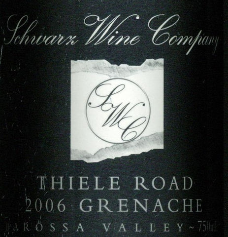 Schwarz Thiele Road Grenache 2006 750ml, Barossa Valley