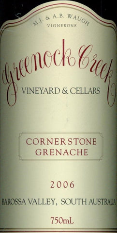 Greenock Creek Cornerstone Grenache 2006 750ml, Barossa Valley