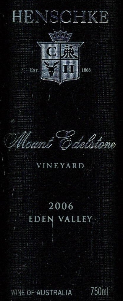 Henschke Mount Edelstone Shiraz 2006 750ml, Eden Valley