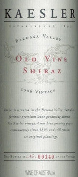 Kaesler Old Vine Shiraz 2006 750ml, Barossa Valley