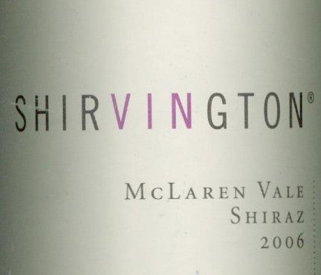 Shirvington Shiraz 2006 750ml, McLaren Vale