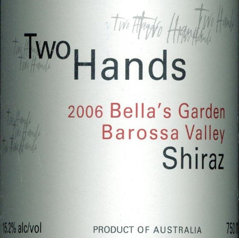 Two Hands Bella's Garden Shiraz 2006 Double Magnum 3L, Barossa Valley