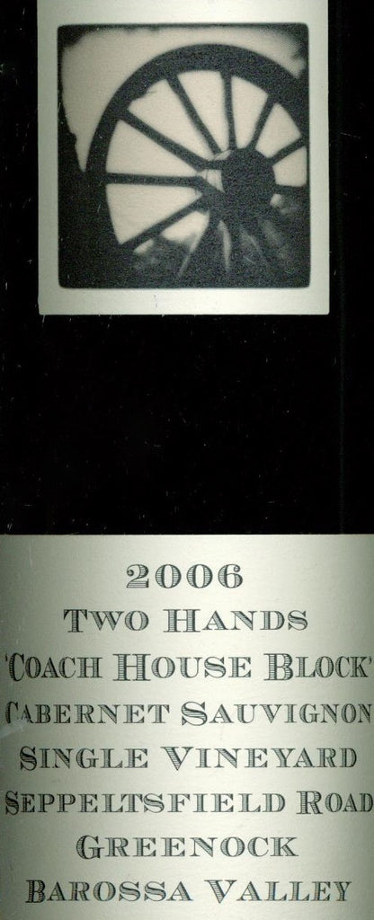 Two Hands Coach House Block Cabernet Sauvignon 2006 750ml, Barossa Valley