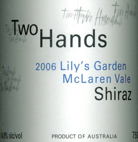 Two Hands Lily's Garden Shiraz 2006 Double Magnum, McLaren Vale