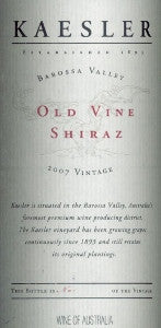 Kaesler Old Vine Shiraz 2007 1.5L, Barossa Valley