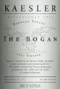 Kaesler The Bogan Shiraz 2007 1.5L, Barossa Valley