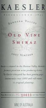 Kaesler Old Vine Shiraz 2007 3L, Barossa Valley