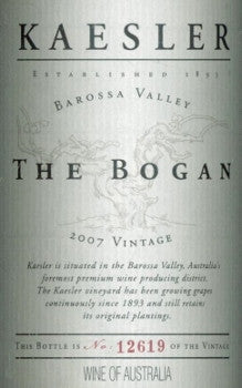 Kaesler The Bogan Shiraz 2007 750ml, Barossa Valley