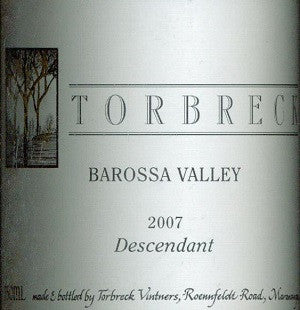 Torbreck Descendant Shiraz Viognier 2007 750ml, Barossa Valley