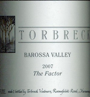 Torbreck Factor Shiraz 2007 750ml, Barossa Valley