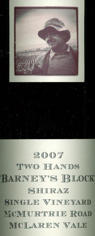 Two Hands Barney's Block Shiraz 2007 750ml, McLaren Vale