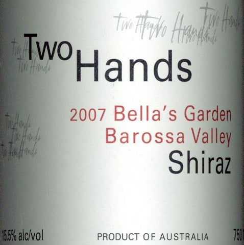 Two Hands Bella's Garden Shiraz 2007 750ml, Barossa Valley