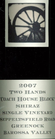 Two Hands Coach House Block Shiraz 2007 750ml, Barossa Valley